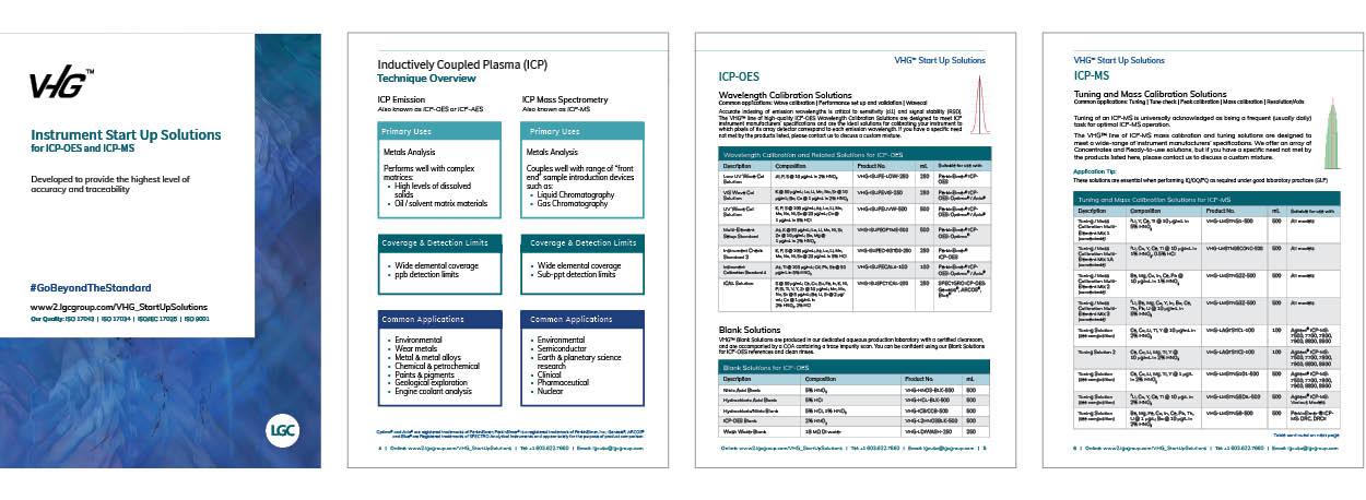 VHG™ Instrument Start Up Solutions Product Brochure Pages