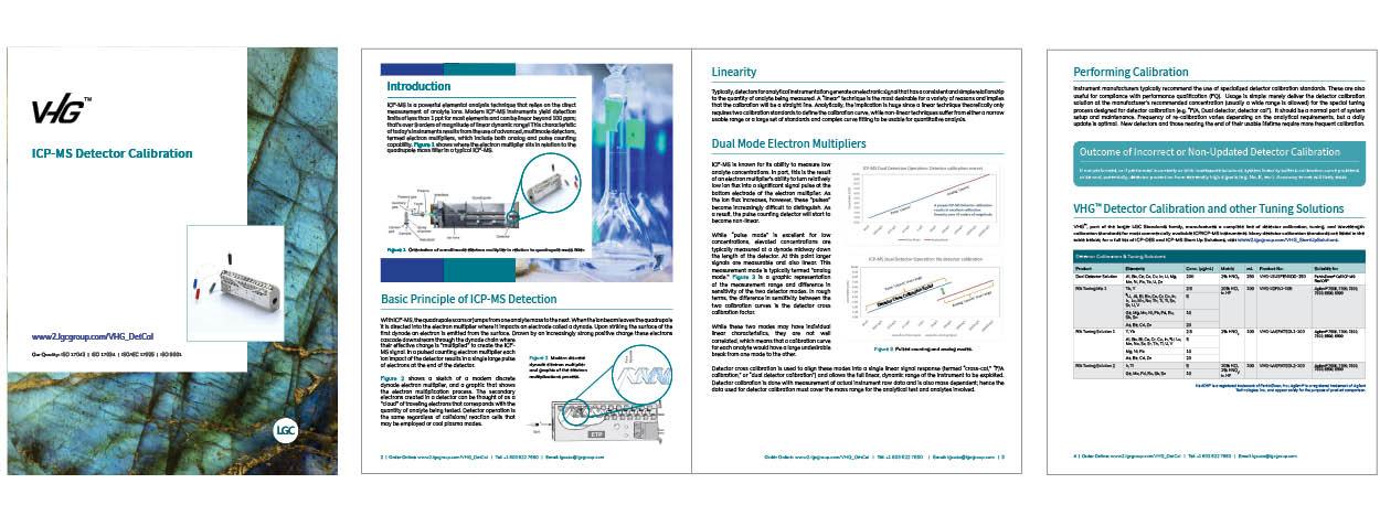 VHG™ - Detector Calibration Technical Paper pages
